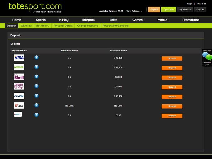 Totesport casino casino site usa web