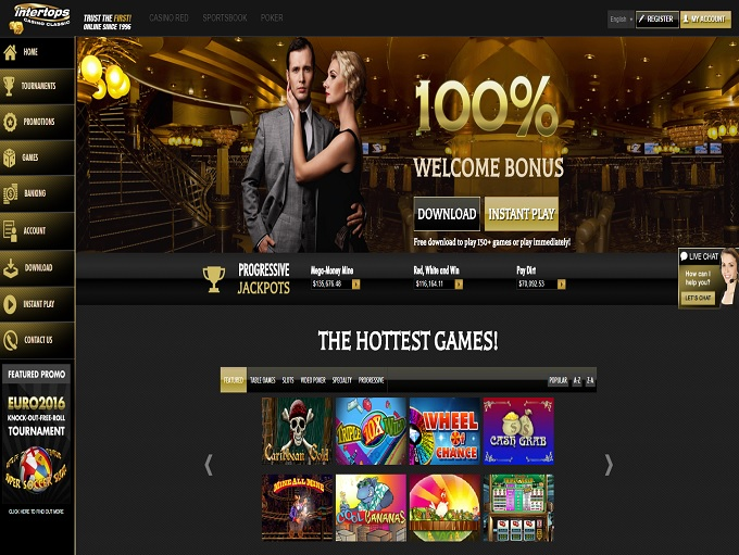 intertops classic casino no deposit 2019