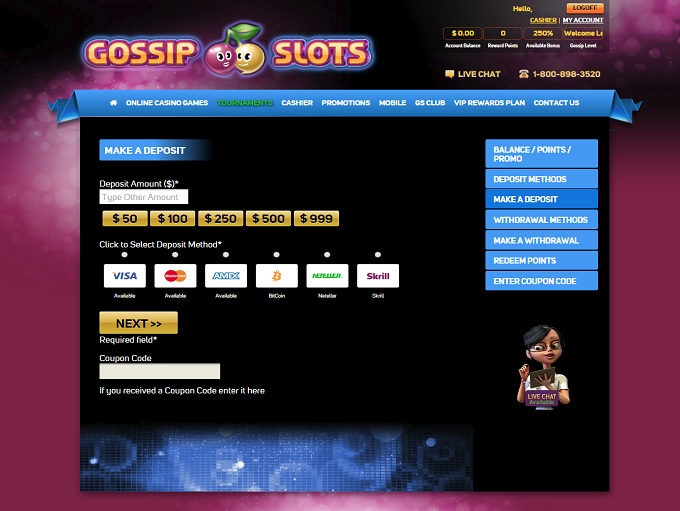 Gossip Slots Casino Is Rated 3 9 Out Of 5 In 2020 1 Bonus