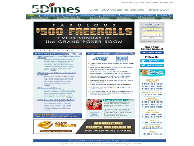 5Dimes Casino is Rated 2 7 out of 5 in 2019 ▷ Read Review