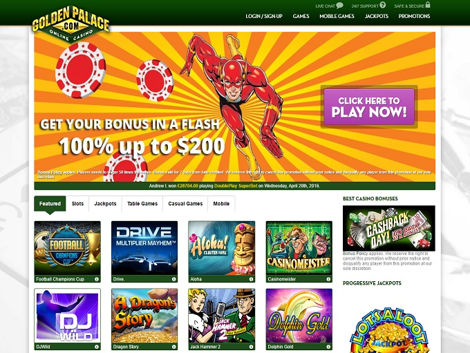 golden palace online casino wizards win