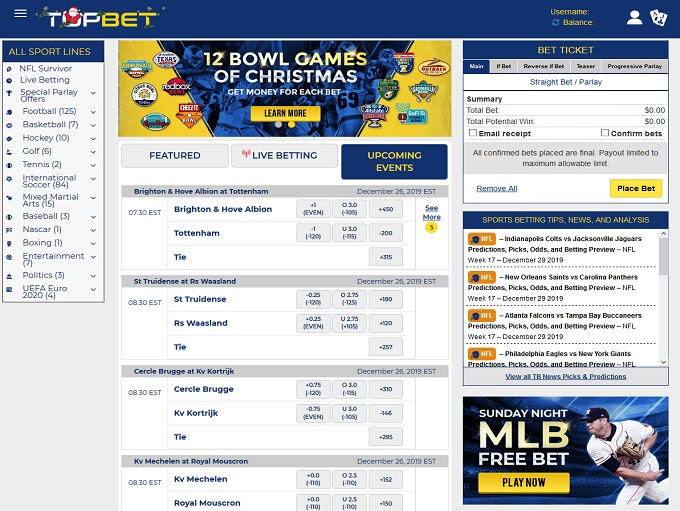 topbet sports betting results