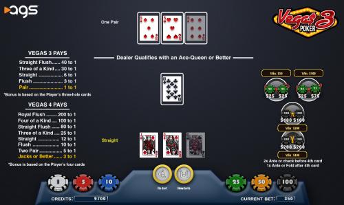 Vega$ 3 Poker