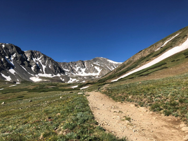 On the trail to Grays Peak