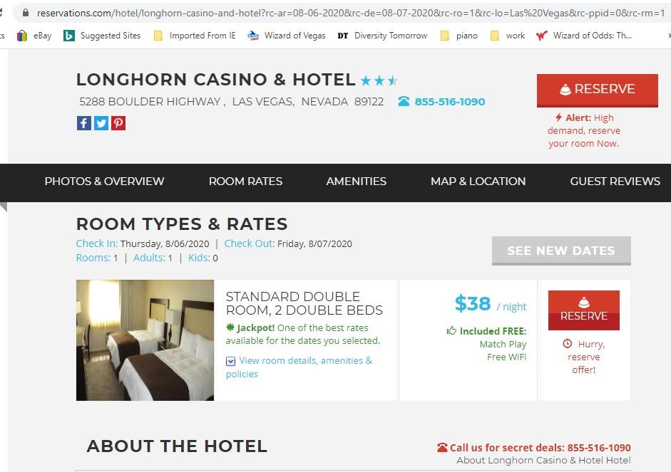 Reservations.com - a $38 room