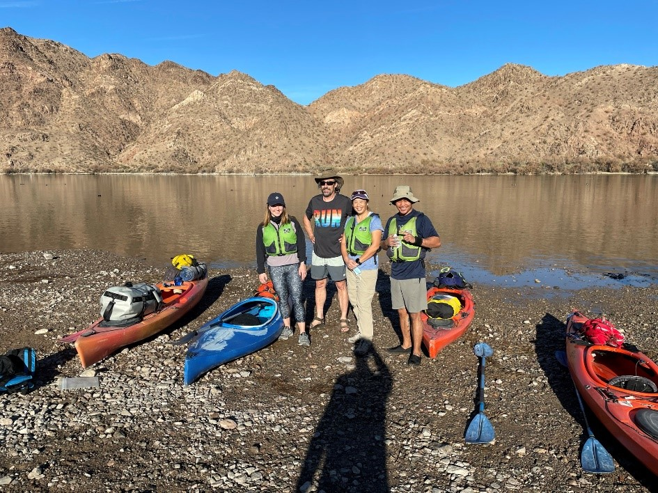 Colorado River Kayak Adventure - fearless four