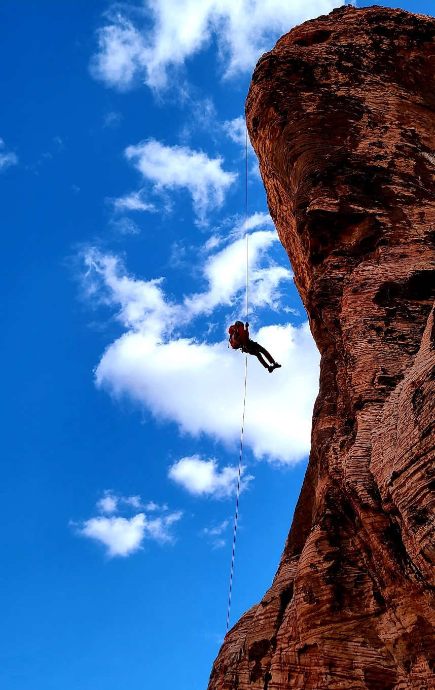 nearby Calico Basin - rappelling
