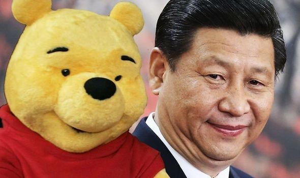 Chinese leader with Winnie the Pooh