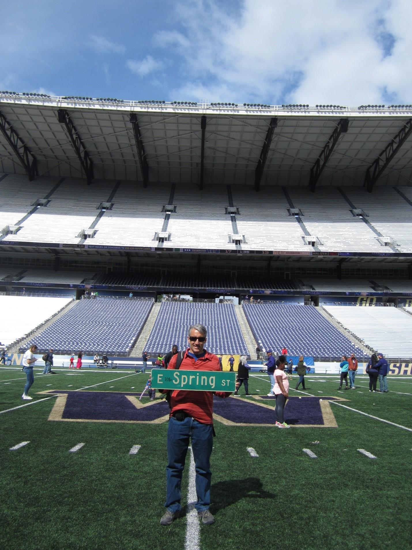 University of Washington 50-yard line