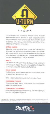 u turn blackjack rack card