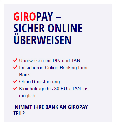 Giropay payment