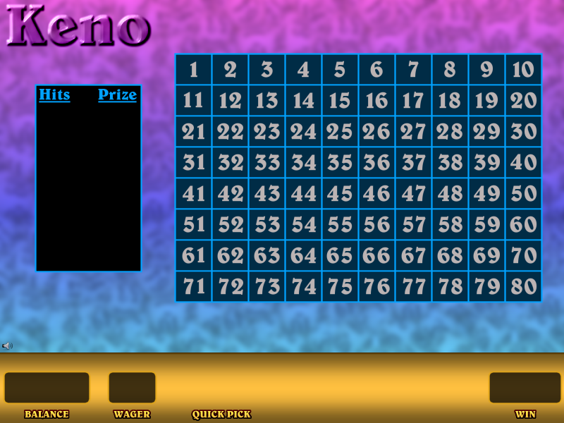 play keno for free