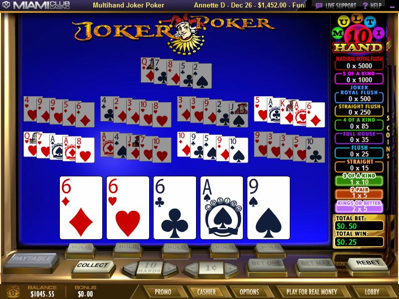 Free online multi strike video poker