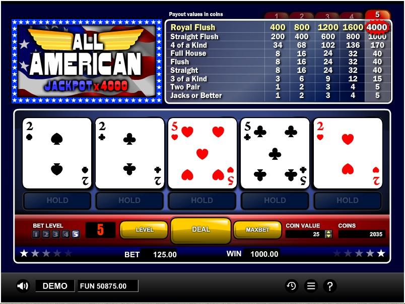casino online bonus poker american 2