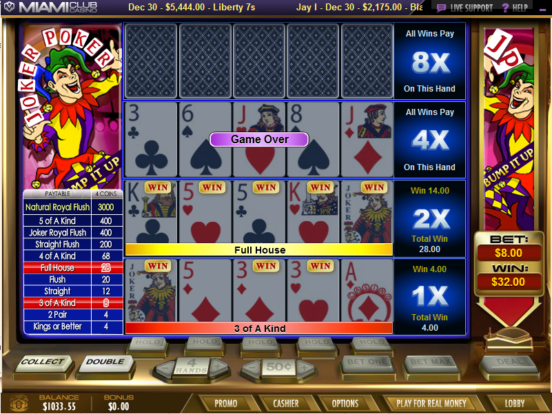 free slot play online joker poker