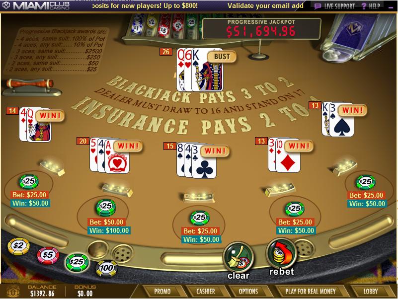 How to progressive bet in blackjack
