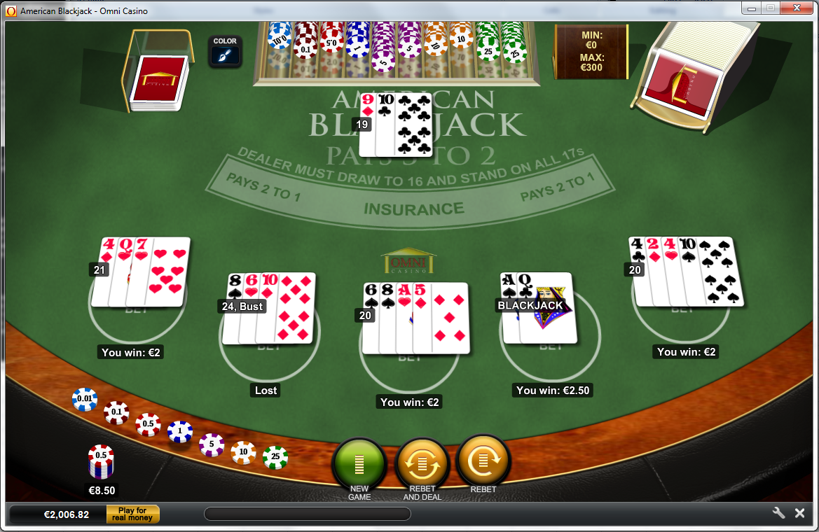 Free blackjack and roulette
