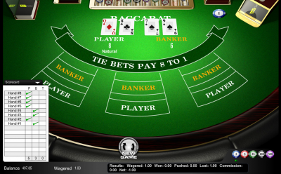 free baccarat game wizard of odds
