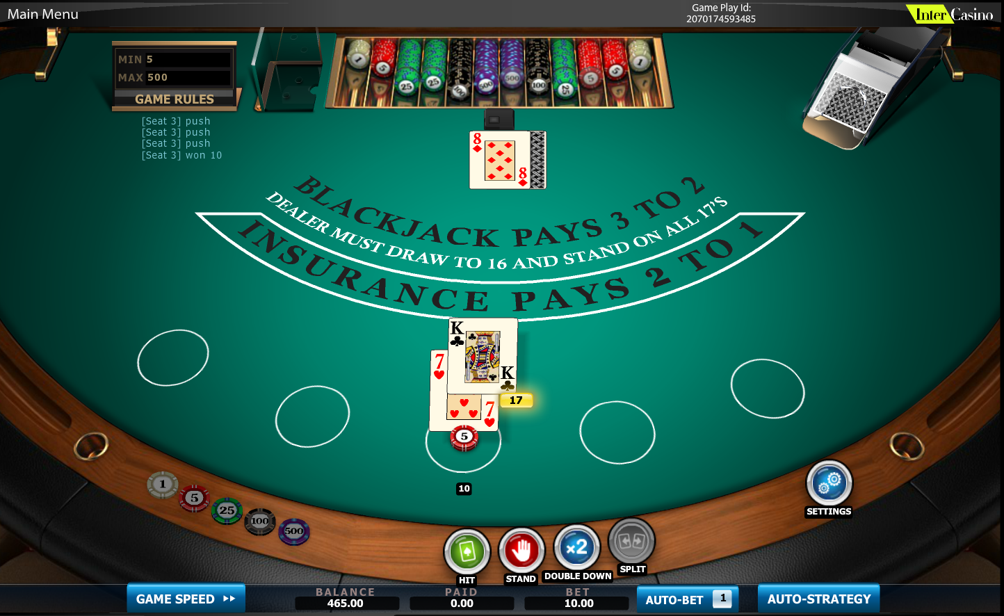 Free Bet Blackjack Vegas