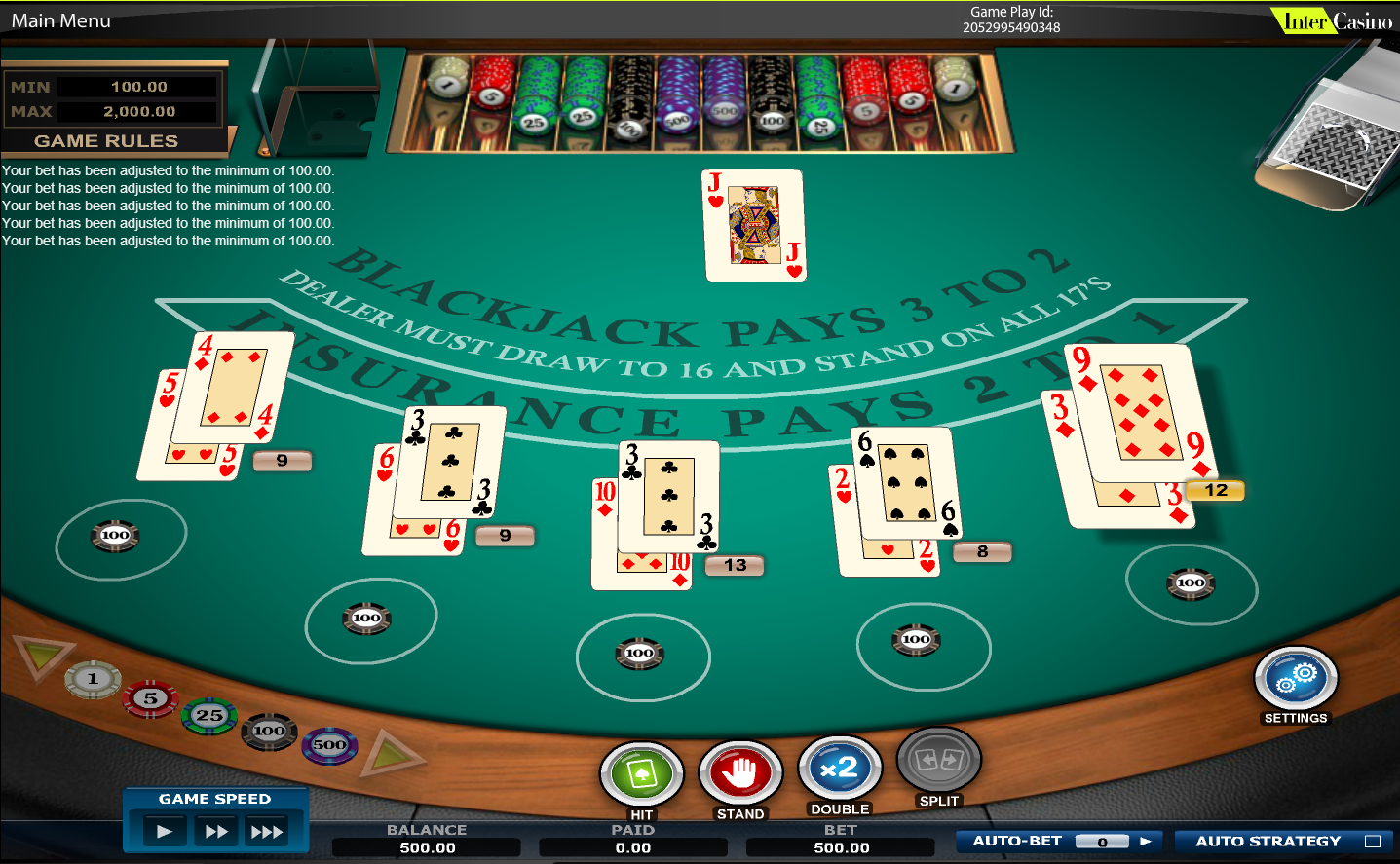 blackjack game java