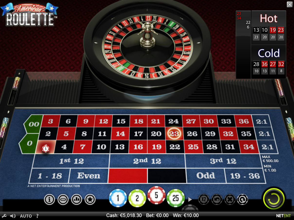 online roulette american express