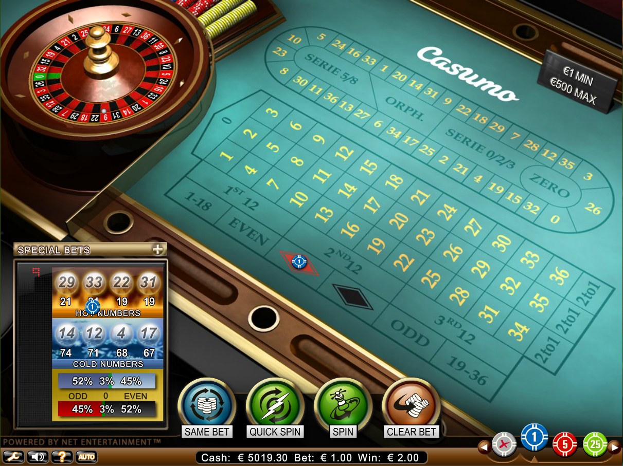 besten online casino casino european roulette