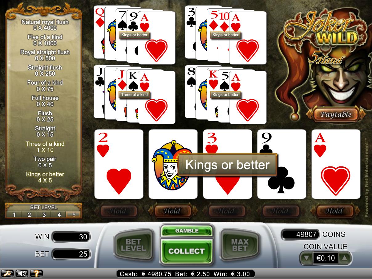 casino reviews online joker poker
