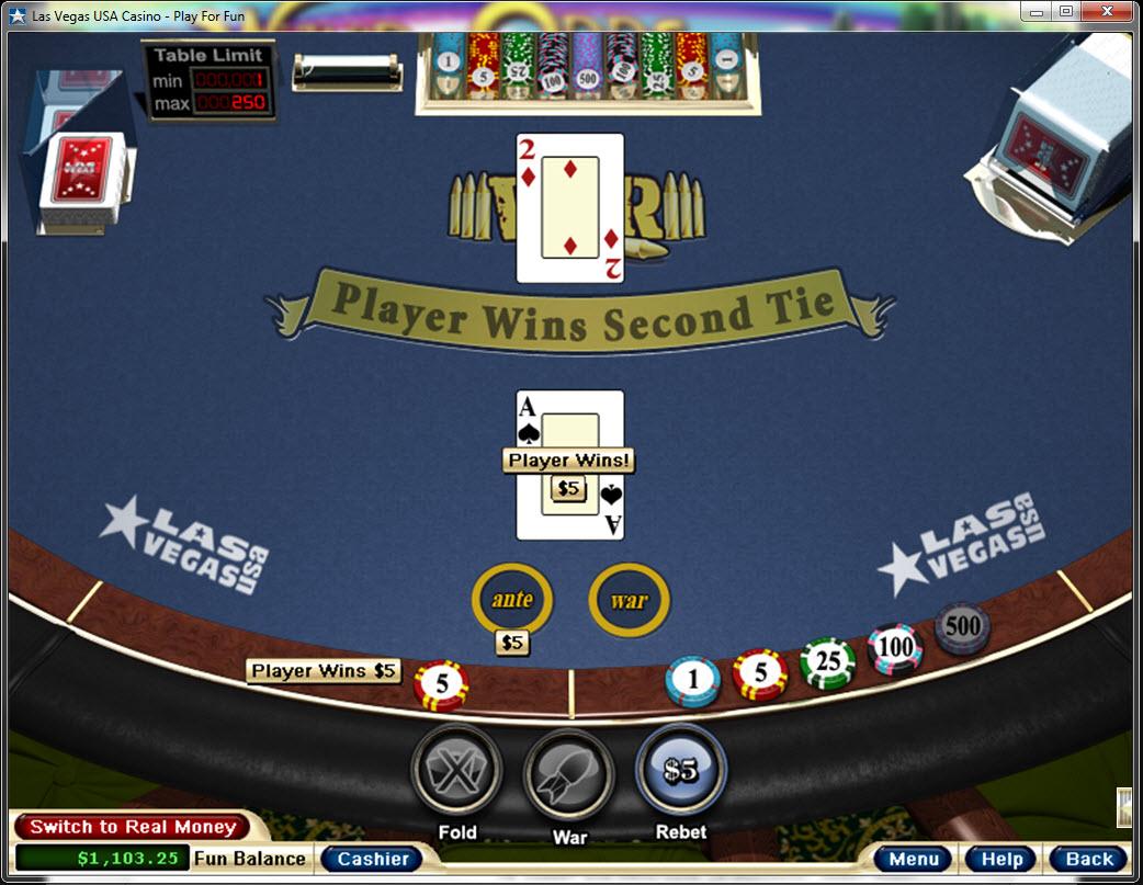 Free online casino war