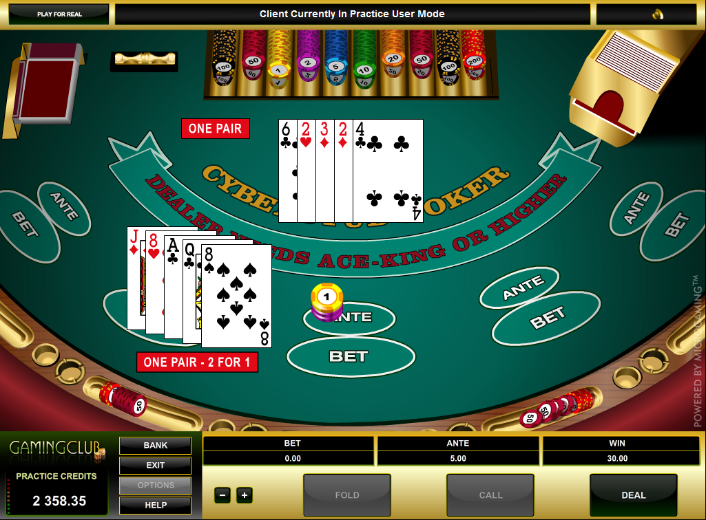 Casino cyber poker recommended stud bonus money to play at the casino