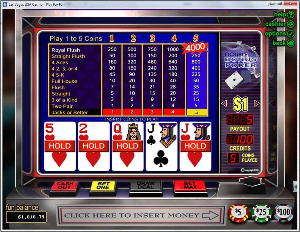 Palms casino video poker el dorado hotel casino reno