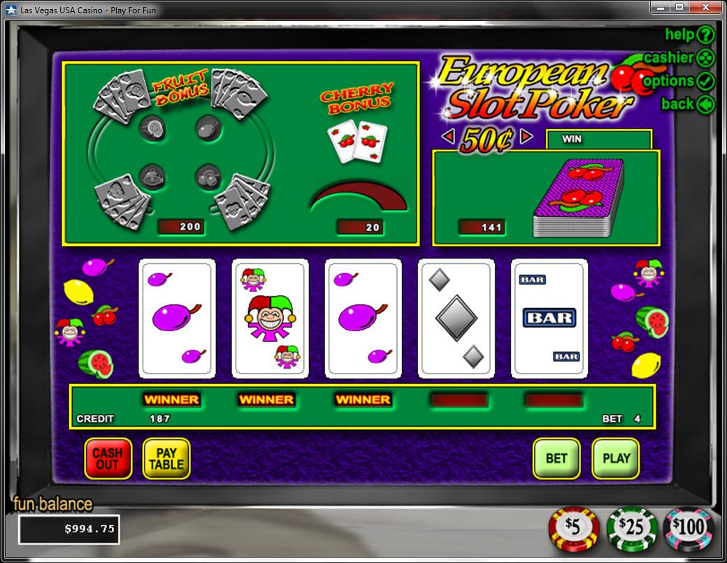 Poker slots odds