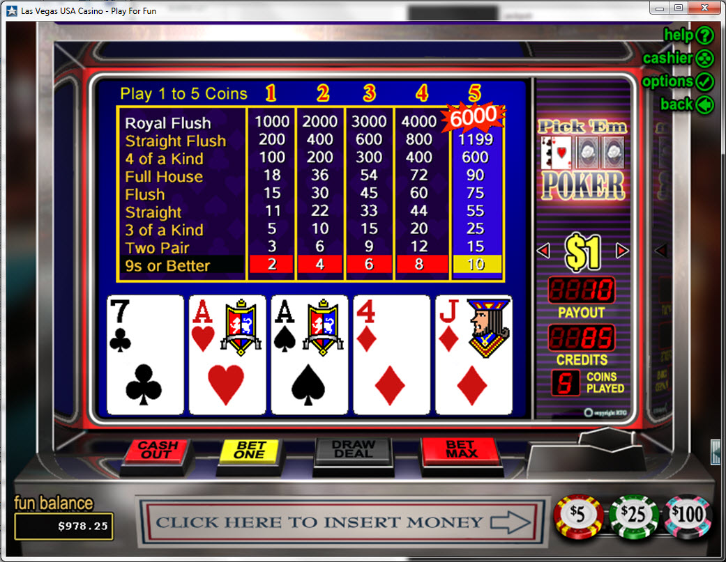 play pickem poker free online
