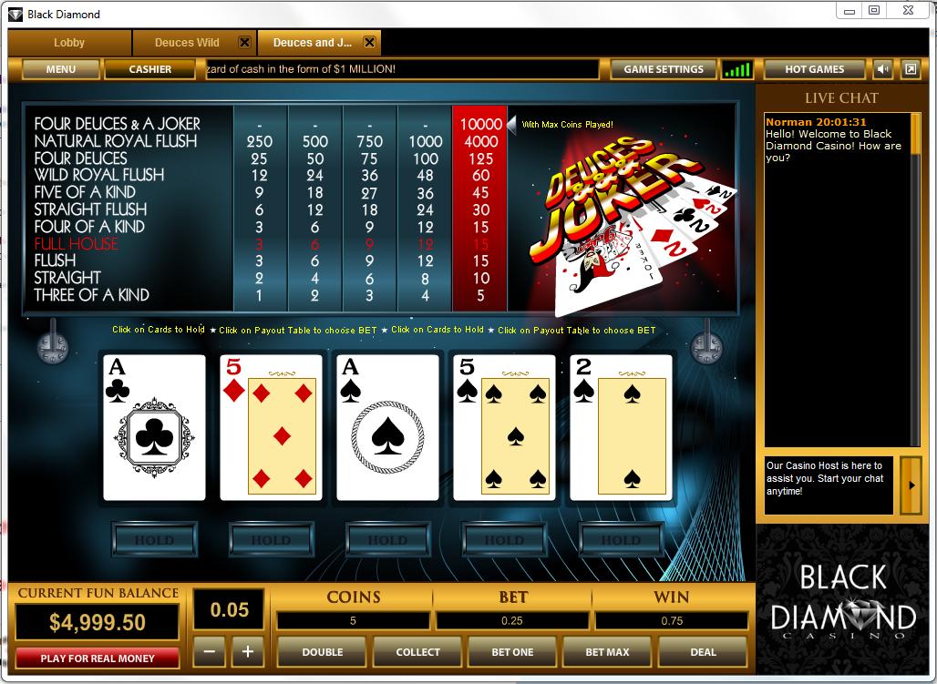 3 card poker 6 card bonus