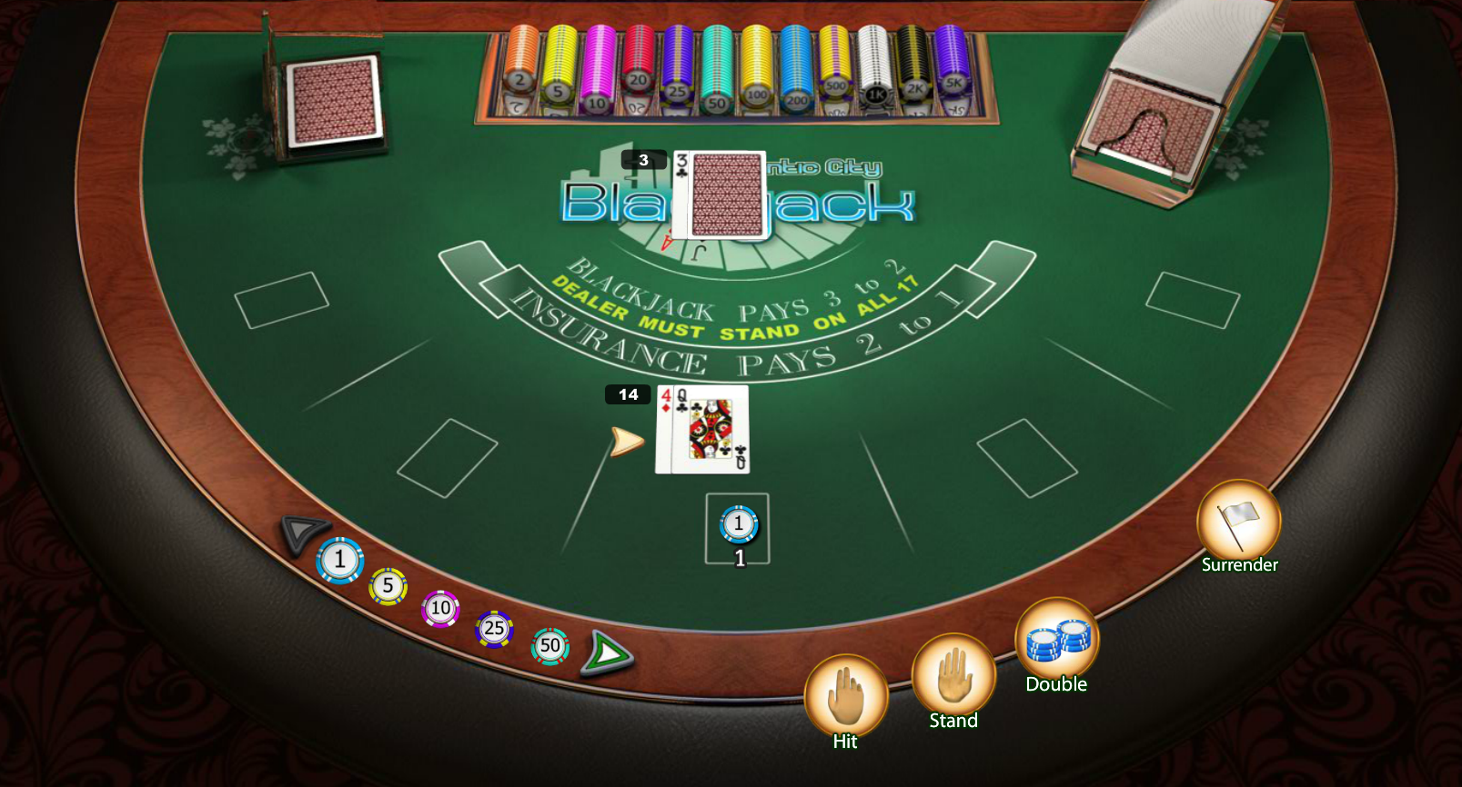 Rules of live dealer blackjack