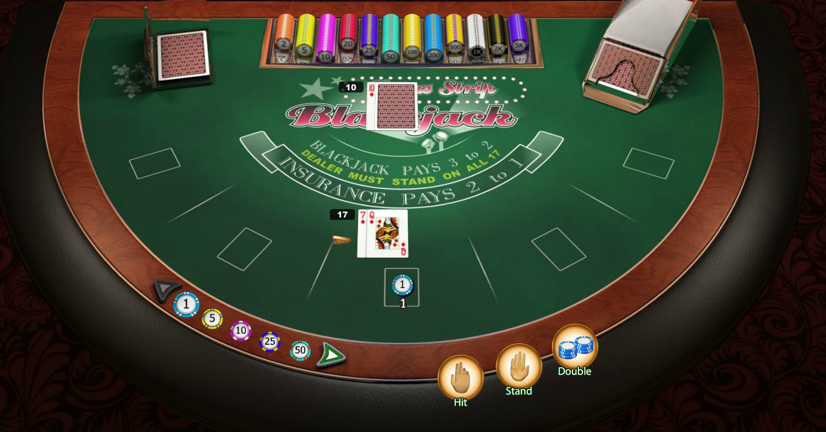 Vegas casinos with $5 blackjack