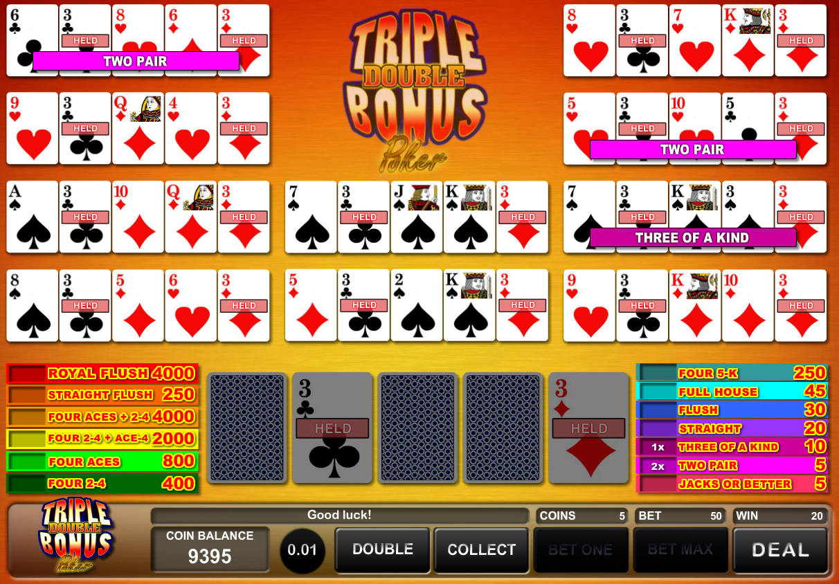 triple double bonus poker online
