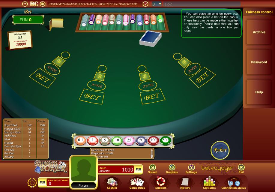 online casino russian poker
