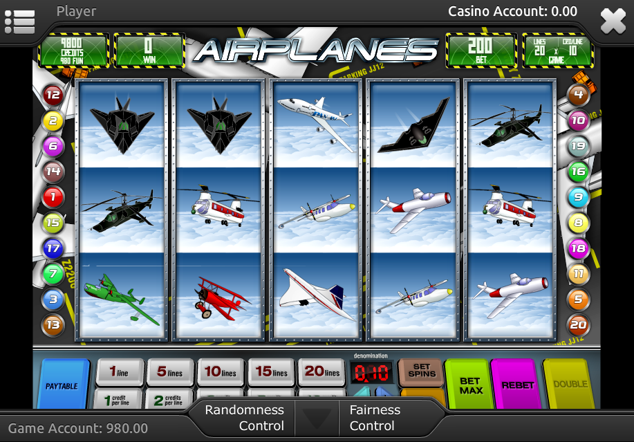 free online airplane slot machine