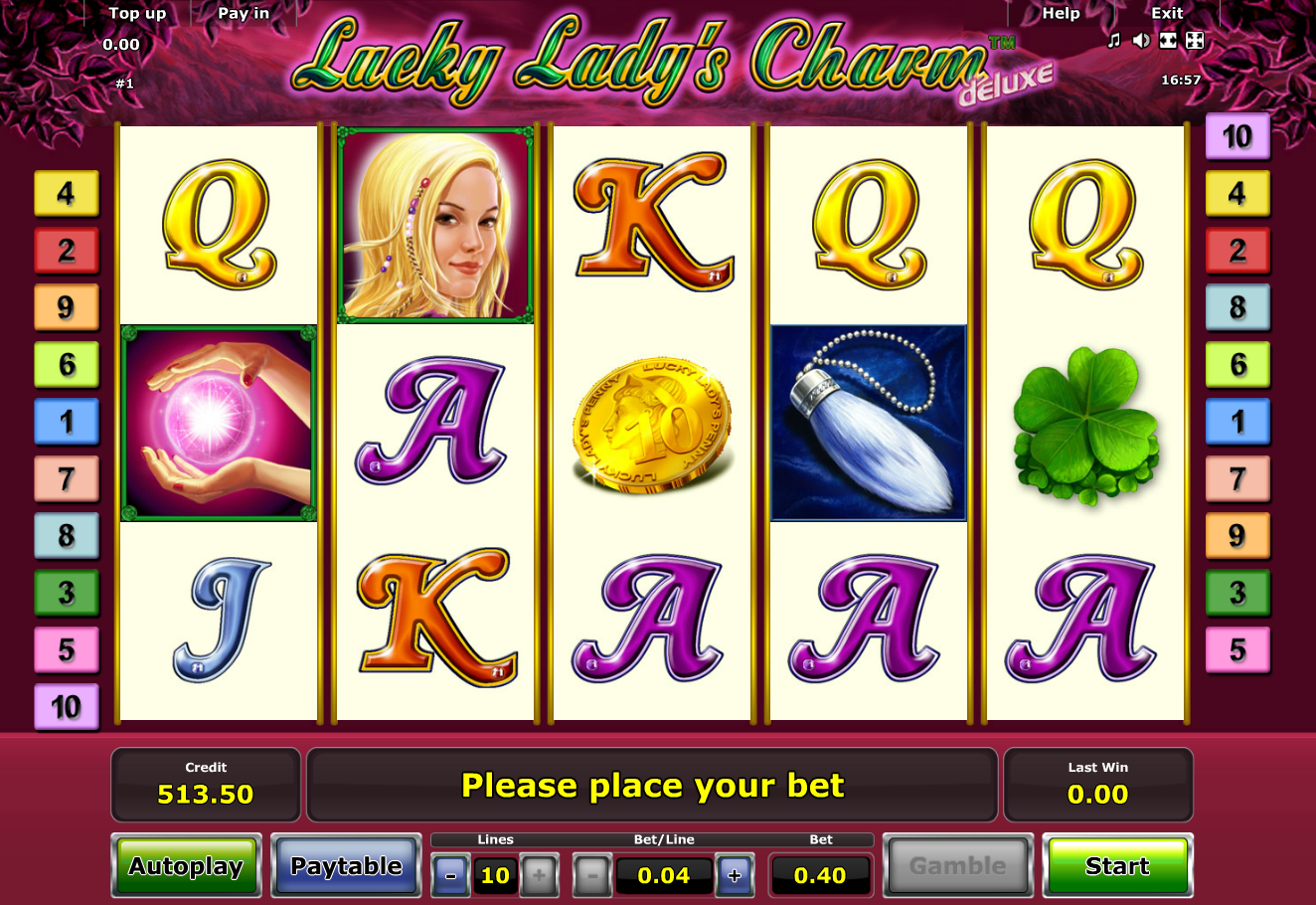 online casino review lucky charm book