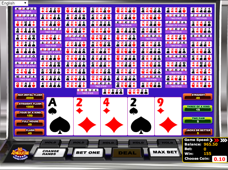 online casino video poker american poker 2