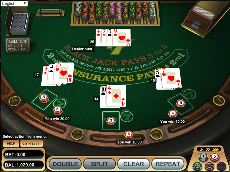 gambling odds sportsbook com blackjack
