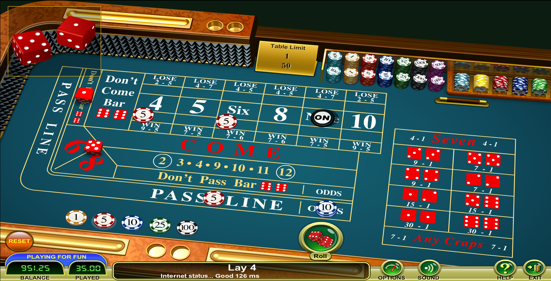 casino craps online bok of ra