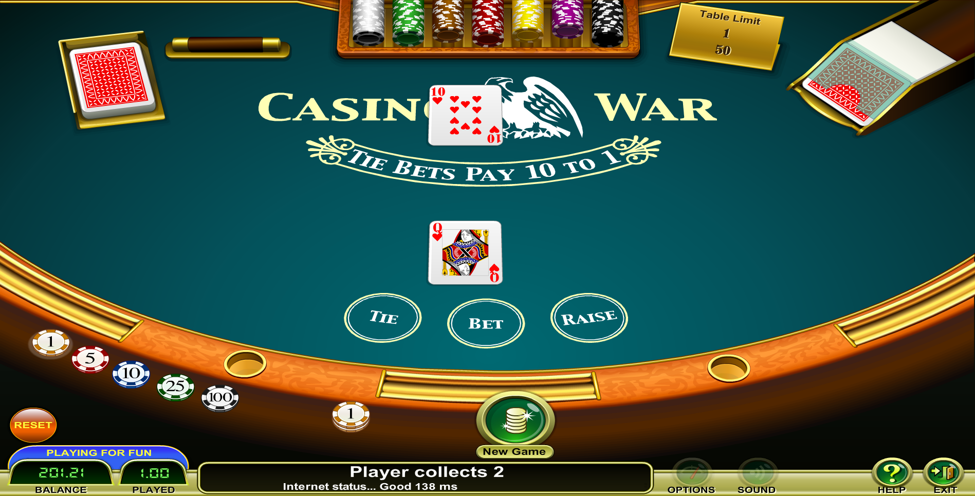 Play 21 online free