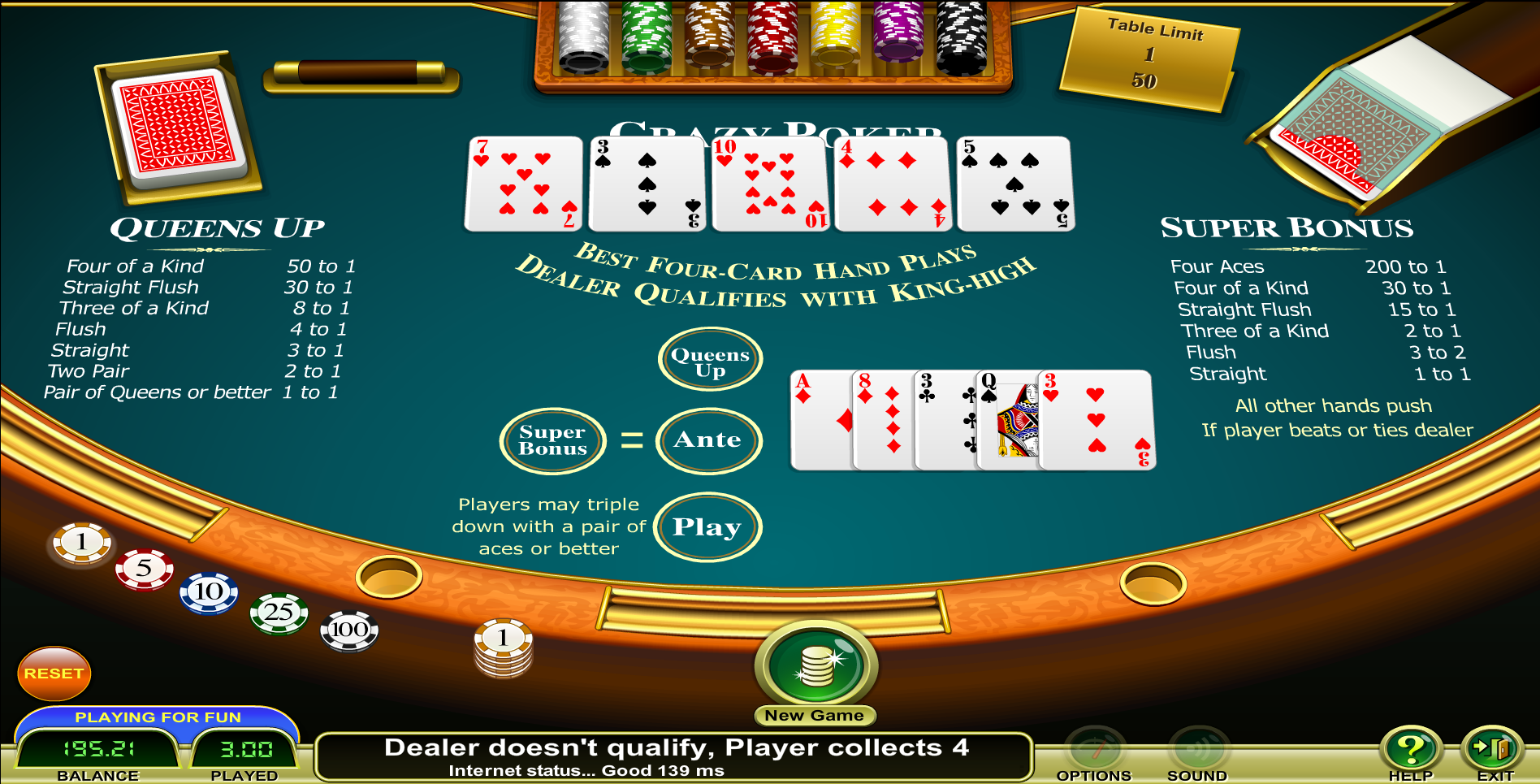 Crazy 4 poker las vegas casinos 888 casino information