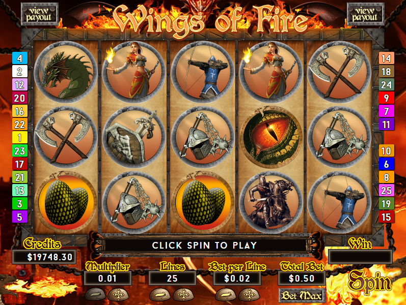 casino games wings of fire