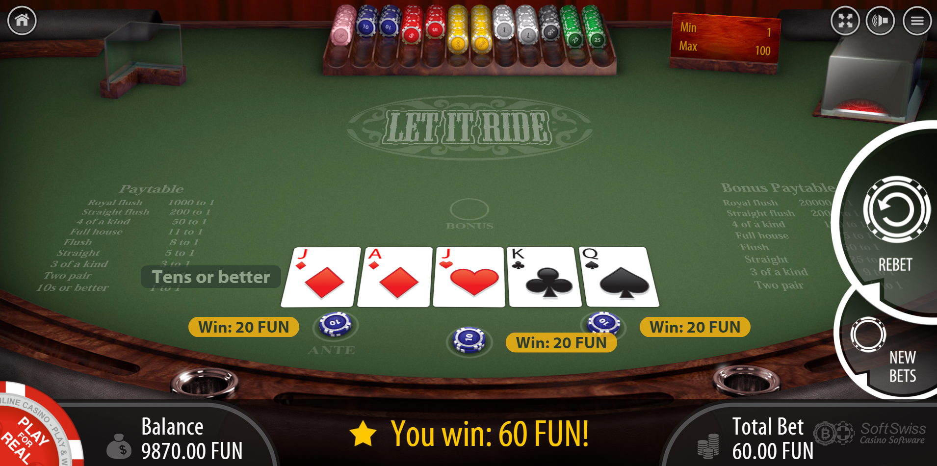 Let it ride casino game odds bahamas casino in