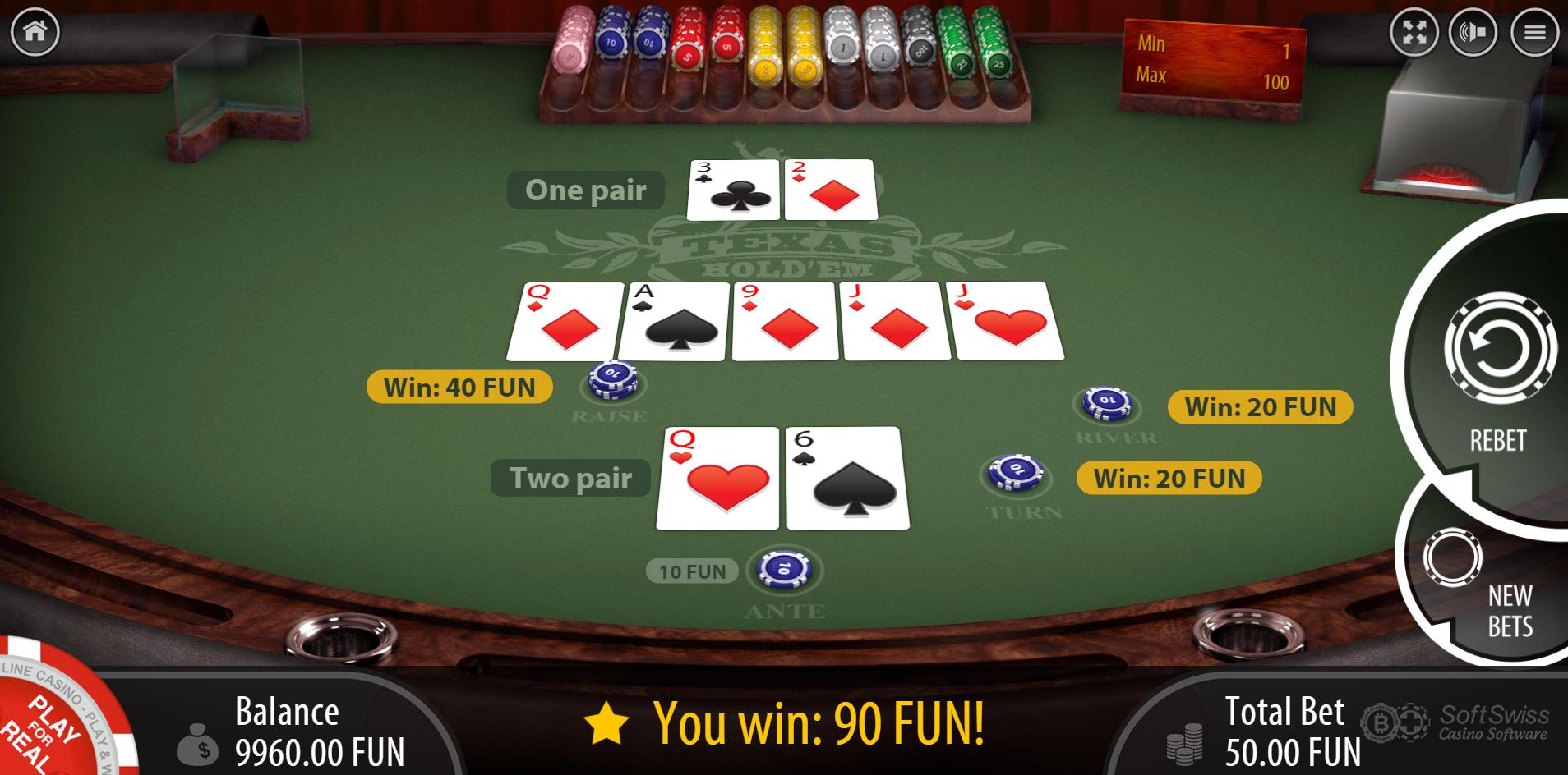 casino holdem bonus