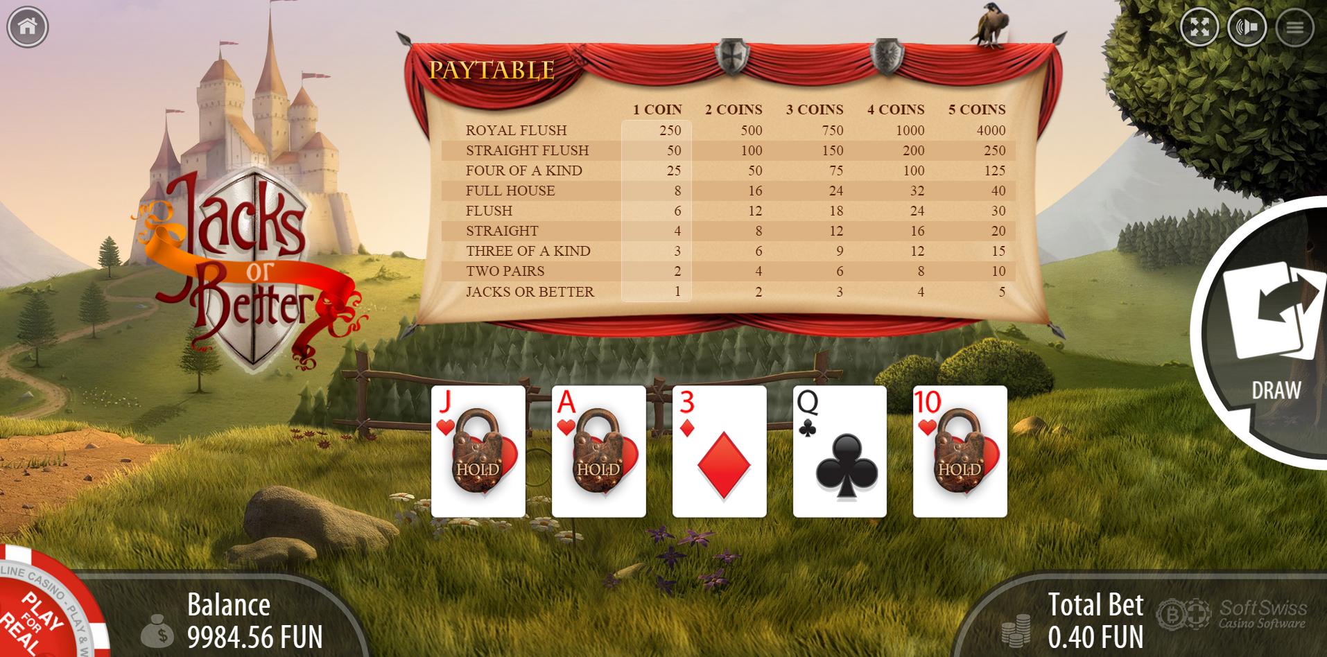 Better odds 3 card poker or blackjack