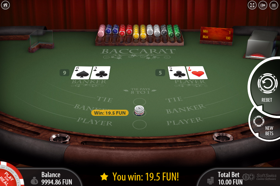 Wizard Of Odds Baccarat Game