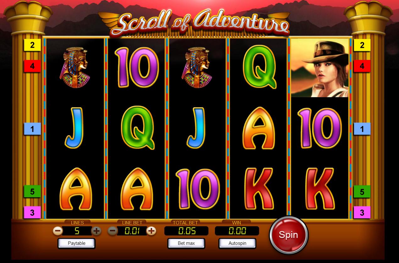 Scroll Of Adventure Slot Machine